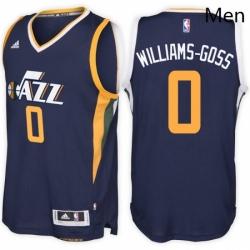 Utah Jazz 0 Nigel Williams Goss Road Navy New Swingman Stitched NBA Jersey