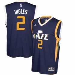 Utah Jazz 2 Joe Ingles Navy Blue New Swingman Road Jerse