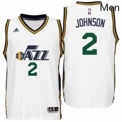 Utah Jazz 2 Joe Johnson Home White New Swingman Jersey