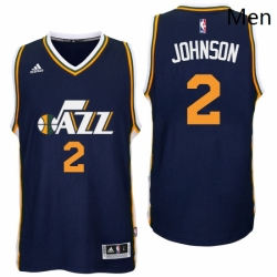 Utah Jazz 2 Joe Johnson Road Navy New Swingman Jersey