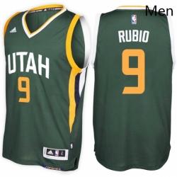 Utah Jazz 9 Ricky Rubio Alternate Green New Swingman Stitched NBA Jersey