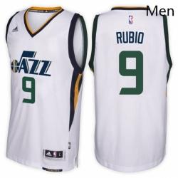 Utah Jazz 9 Ricky Rubio Home White New Swingman Stitched NBA Jersey