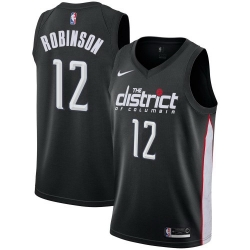 Men Nike Washington Wizards 12 Jerome Robinson Black NBA Swingman City Edition 2018 19 Jersey