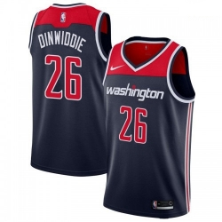 Men Nike Washington Wizards 26 Spencer Dinwiddie Navy Blue NBA Swingman Statement Edition Jersey