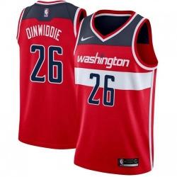 Men Nike Washington Wizards 26 Spencer Dinwiddie Red NBA Swingman Icon Edition Jersey