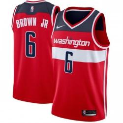 Men Nike Washington Wizards 6 Troy Brown Jr Red NBA Swingman Icon Edition Jersey