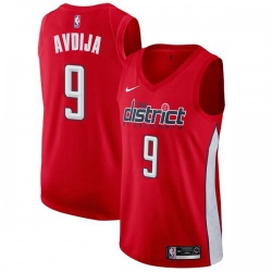 Men Nike Washington Wizards 9 Deni Avdija Red NBA Swingman Earned Edition Jersey