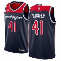 Mens Nike Washington Wizards 41 Wes Unseld Swingman Navy Blue NBA Jersey Statement Edition