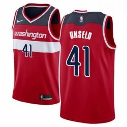 Mens Nike Washington Wizards 41 Wes Unseld Swingman Red Road NBA Jersey Icon Edition