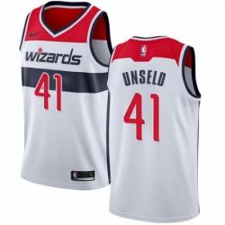 Mens Nike Washington Wizards 41 Wes Unseld Swingman White Home NBA Jersey Association Edition