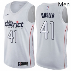 Mens Nike Washington Wizards 41 Wes Unseld Swingman White NBA Jersey City Edition
