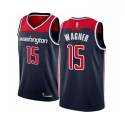 Mens Washington Wizards 15 Moritz Wagner Authentic Navy Blue Basketball Jersey Statement Edition
