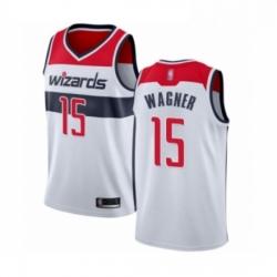 Mens Washington Wizards 15 Moritz Wagner Authentic White Basketball Jersey Association Edition