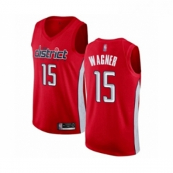 Mens Washington Wizards 15 Moritz Wagner Red Swingman Jersey Earned Edition