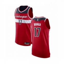Mens Washington Wizards 17 Isaac Bonga Authentic Red Basketball Jersey Icon Edition