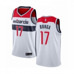 Mens Washington Wizards 17 Isaac Bonga Authentic White Basketball Jersey Association Edition
