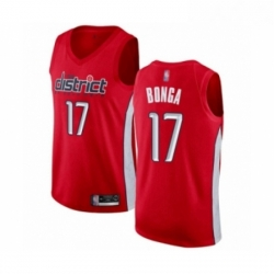 Mens Washington Wizards 17 Isaac Bonga Red Swingman Jersey Earned Edition
