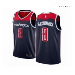 Mens Washington Wizards 8 Rui Hachimura Authentic Navy Blue Basketball Jersey Statement Edition
