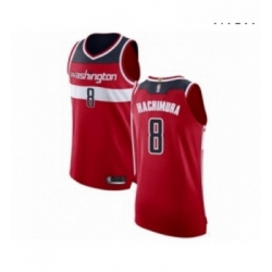 Mens Washington Wizards 8 Rui Hachimura Authentic Red Basketball Jersey Icon Edition