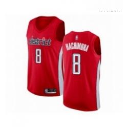 Mens Washington Wizards 8 Rui Hachimura Red Swingman Jersey Earned Edition
