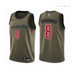Mens Washington Wizards 8 Rui Hachimura Swingman Green Salute to Service Basketball Jersey