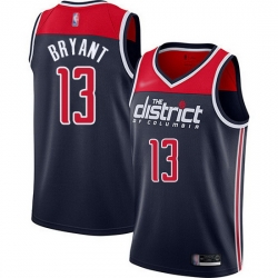 Wizards  13 Thomas Bryant Navy Blue Basketball Swingman Statement Edition 2019 2020 Jersey