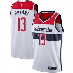 Wizards  13 Thomas Bryant White Basketball Swingman Association Edition Jersey