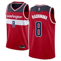 Wizards #8 Rui Hachimura Red Basketball Swingman Icon Edition Jersey