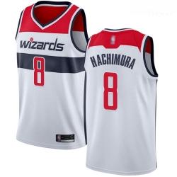Wizards #8 Rui Hachimura White Basketball Swingman Association Edition Jersey