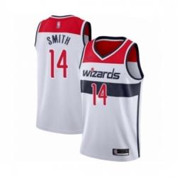 Youth Washington Wizards Ish Smith Swingman White Basketball Jersey Association Edition