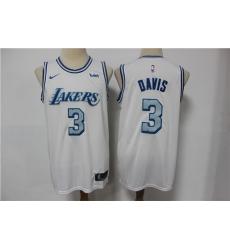 Lakers 3 Anthony Davis White 2020-21 City Edition Nike Swingman Jersey