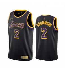Men Los Angeles Lakers 2 Andre Drummond Black NBA Swingman 2020 21 Earned Edition Jersey