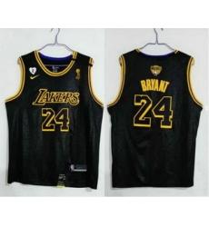 Men Los Angeles Lakers 24 Kobe Bryant Black 2020 NBA Finals Champions Nike City Edition Stitched Jersey
