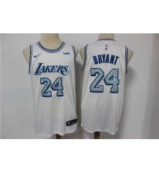 Men Los Angeles Lakers 24 Kobe Bryant White 2020 21 City Edition Nike Swingman Jersey