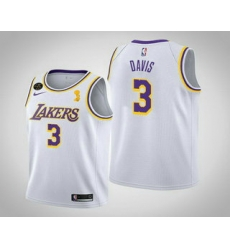 Men Los Angeles Lakers 3 Anthony Davis 2020 NBA Finals Champions Association White Jersey