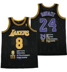 Men Los Angeles Lakers 8  26 24 Kobe Bryant Black Swingman Fashion Jersey