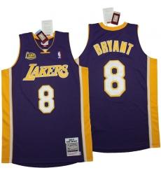 Men Los Angeles Lakers 8 Kobe Bryant Blue 2000 01 Throwback Jerseys