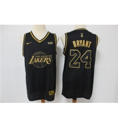 Men Los Angeles Lakers Kobe Bryant 24 Black Gold Limited Jersey