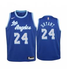 Men Los Angeles Lakers Kobe Bryant 24 Blue Nike Jersey