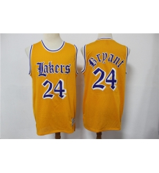 Men Los Angeles Lakers Kobe Bryant 24 Old English Faded Jersey