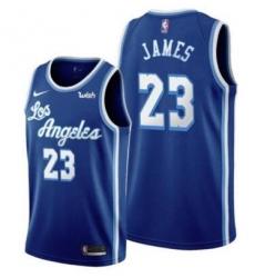 Men Los Angeles Lebron James Blue New Jersey