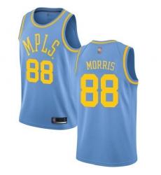 Men Nike Los Angeles Lakers 88 Markieff Morris Royal Blue NBA Swingman Hardwood Classics Jersey