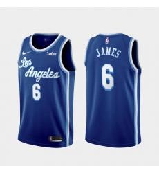 Men's Los Angeles Lakers LeBron James #6 Jersey Blue Classic 2021-22