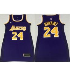 Women Los Angeles Lakers 24 Kobe Bryant Purple Nike Swingman Jersey