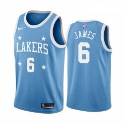 Women Nike Los Angeles Lakers 6 LeBron James Blue Minneapolis All Star Classic Women NBA Jersey