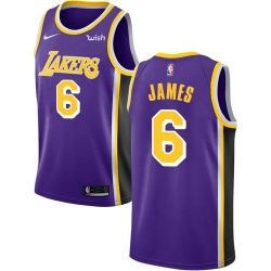 Women Nike Los Angeles Lakers 6 LeBron James Purple Women NBA Swingman Statement Edition Jersey