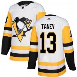 Men Pittsburgh Penguins 13 Brandon Tanev White Road Stitched NHL Jersey
