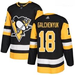 Penguins #18 Alex Galchenyuk Black Home Authentic Stitched Hockey Jersey