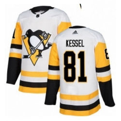 Womens Adidas Pittsburgh Penguins 81 Phil Kessel Authentic White Away NHL Jersey