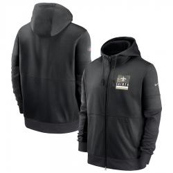 Men New Orleans Saints New 2020 Nike Gray Black Fan Gear Mascot Performance Full Zip Hoodie